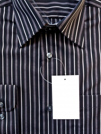New men s shirt with label blank photo