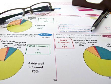 투자 그래프 및 데이터 분석 스톡 콘텐츠