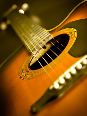 Steel string acoustic guitar photo