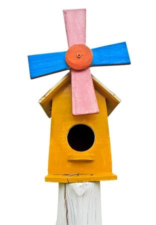 maison oiseau: La maison jaune oiseau en bois
