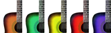 colorful acoustic guitar background photo