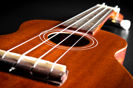 acoustic ukulele: Acoustic Ukulele Hawaii guitar style Stock Photo