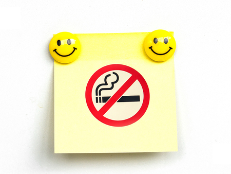 No smoking sign on note pad photo