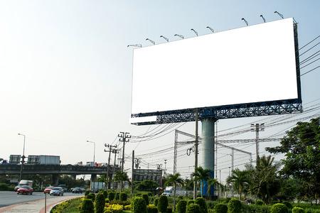 Lege billboard voor nieuwe advertentie Stockfoto