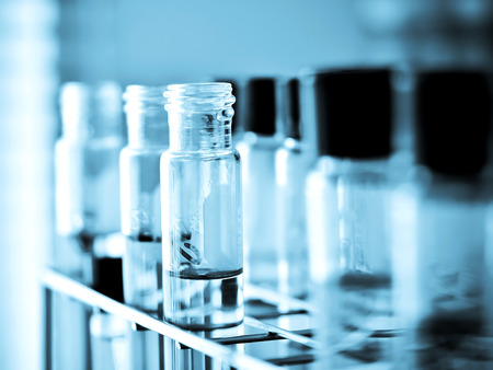 boiling tube: Laboratory glassware with chemical liquid