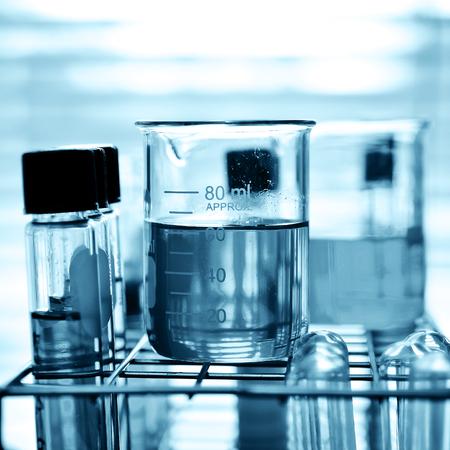 Laboratory glassware with chemical liquid