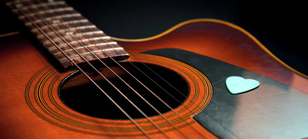 country music: wooden acoustic guitar background