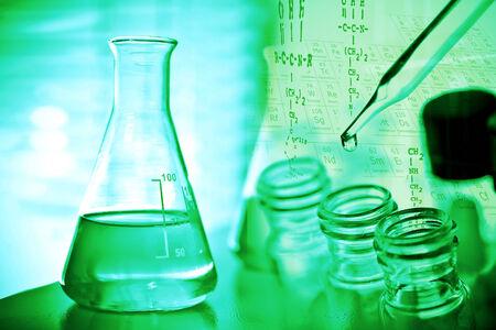 lighting technician: Laboratory glassware containing liquid Stock Photo