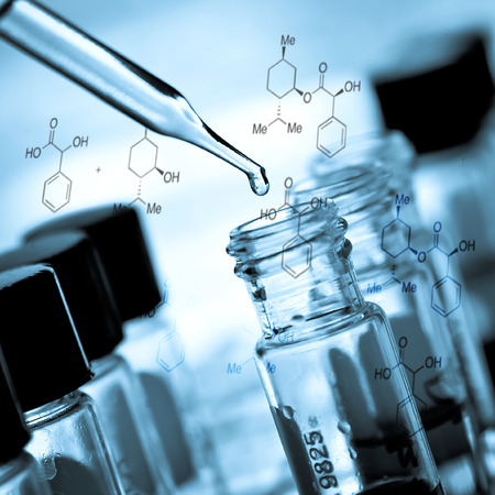medical lighting: Laboratory research, dropping liquid to test tube