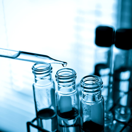 chemistry class: laboratory glassware