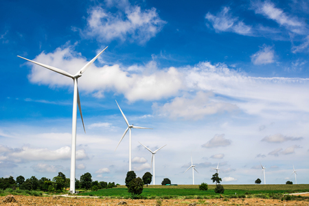 Huay Bong wind turbine farm for generate electricity, Thailand photo