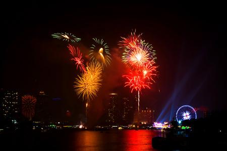 Firework display on celebration night
