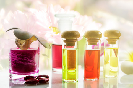 Bottles with natural aroma oil