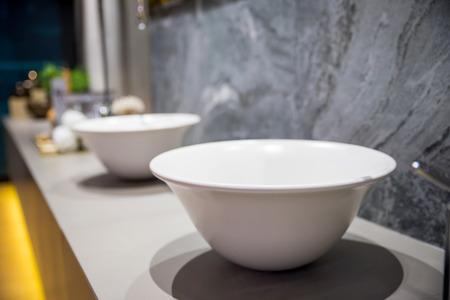 luxury bathroom: wash basin in luxury bathroom