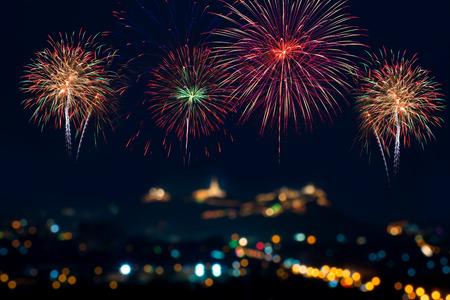 Beautiful firework display for celebration Foto de archivo
