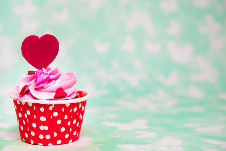 Colorful love cupcake for Valentine day