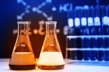 flask and laboratory glassware