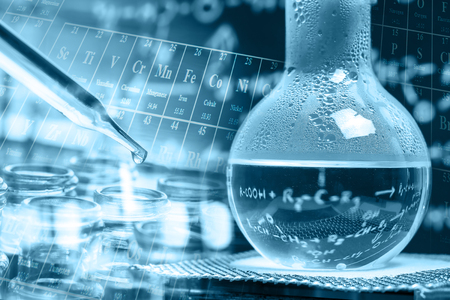 boiling tube: Laboratory glassware, chemistry science research and development concept Stock Photo