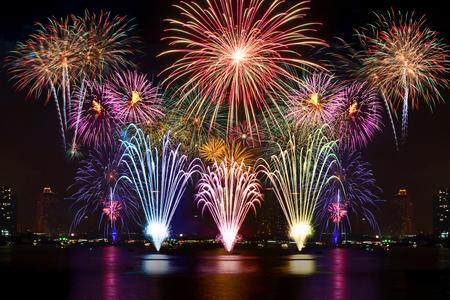 Beautiful fireworks display for celebration night