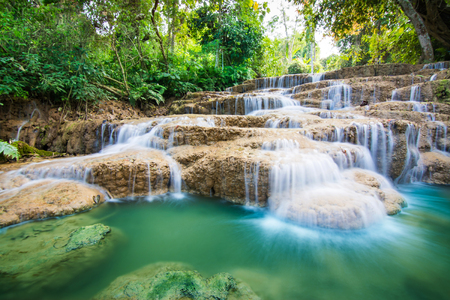 Waterfall at tropical forest
