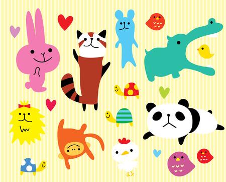 loving animal sticker Vector