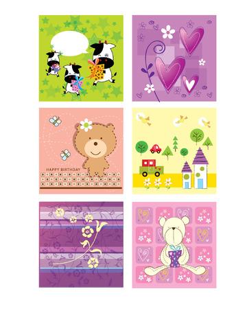animal vector: happy season greeting cute card
