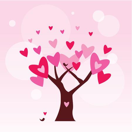 romantic love tree Vector