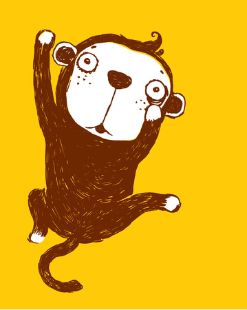 monkey illustration: mono travieso