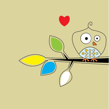 owl love you Vector
