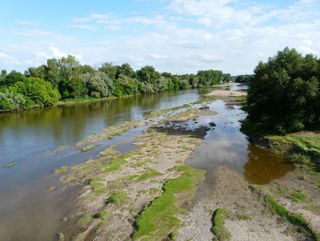loire: Border of the Loire Stock Photo