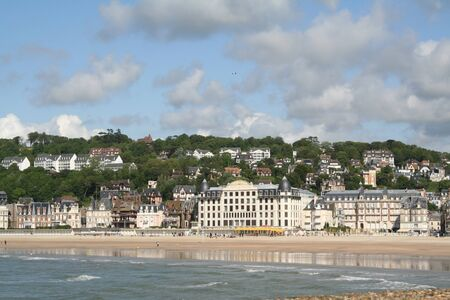 Trouville beach in the spring