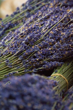lavander: A bunch of lavander displayed at the market Stock Photo