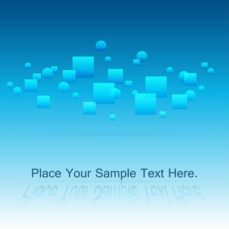 Bright positive blue background. Lots of light and space. Weightlessness. Radiance. Vector illustration. 向量圖像
