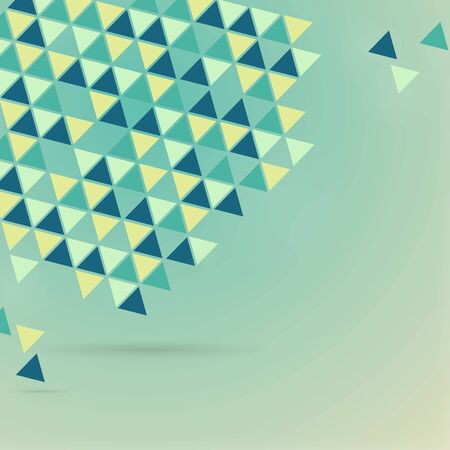 triangles fly. Vector illustration. The pattern of triangles.