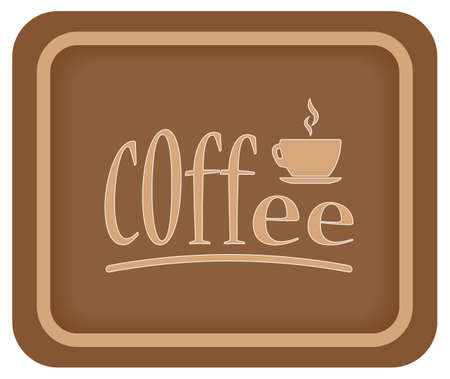Coffee time banner design for coffee shop restaurant menu cafeteria. There is always time for coffee. A cup of coffee. Coffee background with a coffee cup for cafe. Coffee banner for coffee break time.