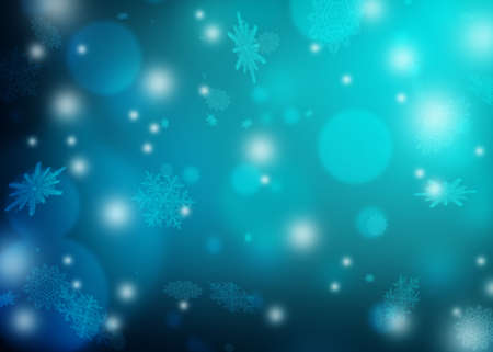 Beautiful blue winter blurred background. Snowflakes flying in the air. Snowflakes, winter, New Year, Christmas theme. Snow, christmas, snowflake background, snowflake winter. Silver snowflake.
