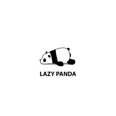 Lazy panda icon design, vector illustration on white background.