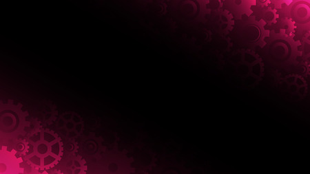 Abstract dark pink gears background, vector illustration