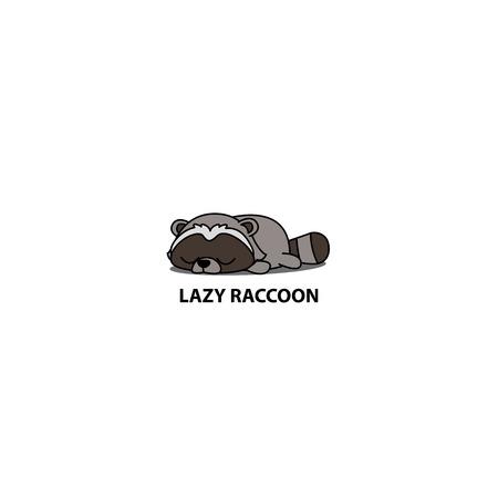 Lazy raccoon icon design, vector illustration design. Stock Illustratie