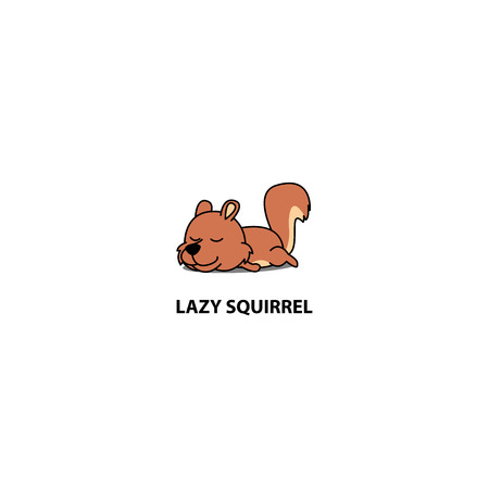 Lazy squirrel sleeping icon,  design, vector illustration Archivio Fotografico - 101681027
