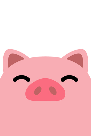 Funny pig face, vector illustration Archivio Fotografico - 111266660