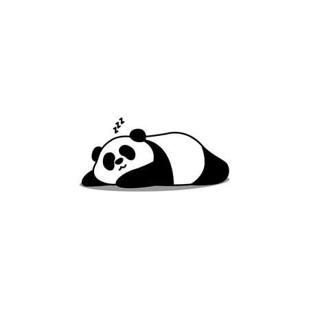 Lazy panda cartoon, vector illustration 矢量图像
