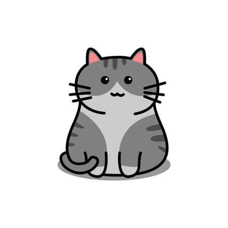 Cute american shorthair cat cartoon, vector illustration Vectores