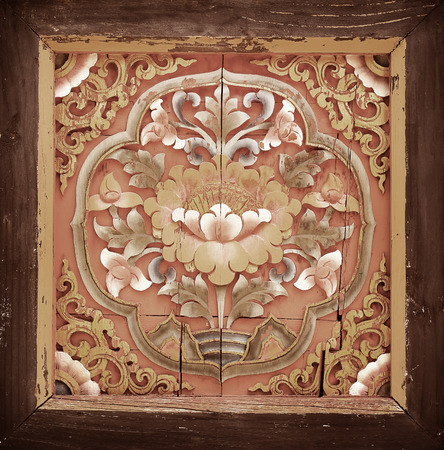 harmonize: Lotus carve,Ancient Oriental Carved Art, Background
