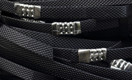 Black Packaging Straps Isolated Reklamní fotografie
