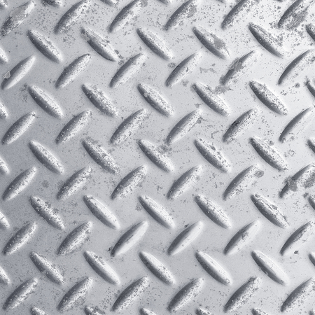 checkerplate: Old metal sheet background Stock Photo