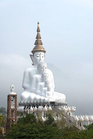 big 5: Big 5 white image on buddha