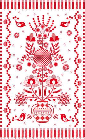 gestickt: Ukrainische bestickt Handtuch traditionellen festlich Illustration