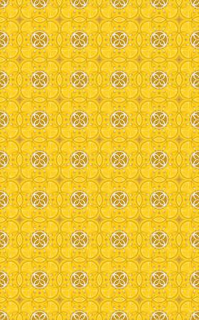vector  background seamless wallpaper- graphic flower gold Illustration