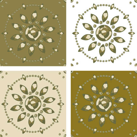 four floral graphic motif for seamless fill (drag and drop any of them politru samples and use to fill).